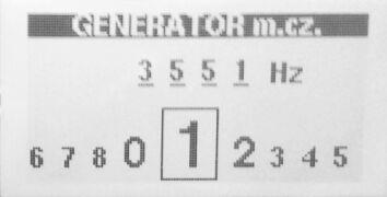ekran generatora